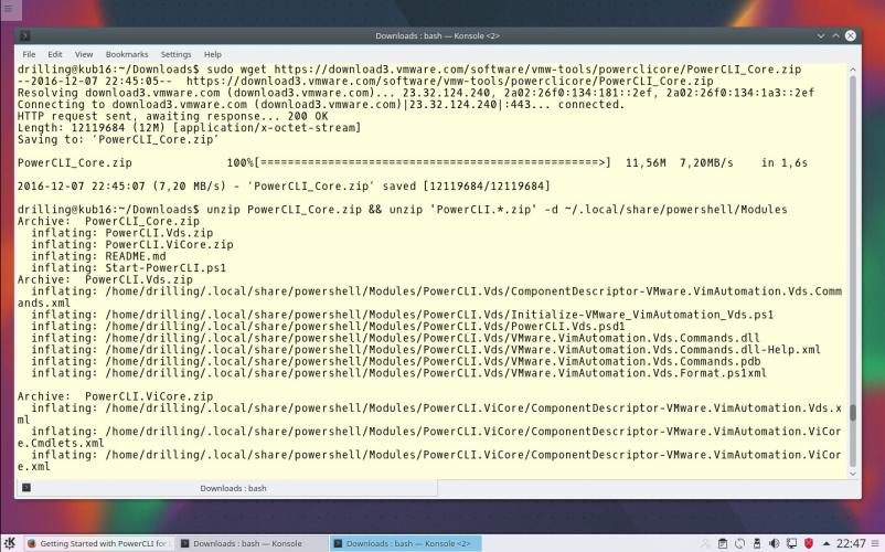 vSphere PowerCLI unter Linux