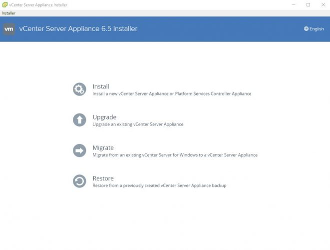 Teil 6 - vCenter Appliance 6.5 Setup