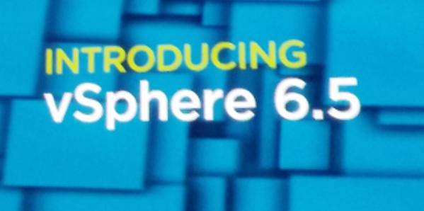 vSphere 6.5 angekündigt