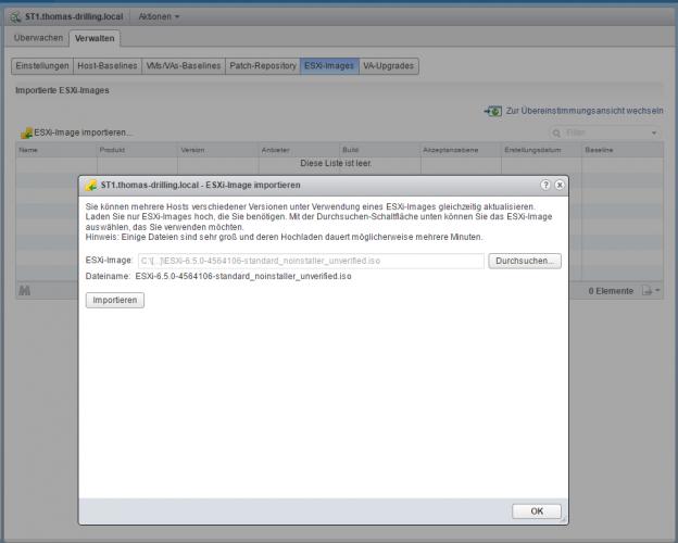 ESXi-Upgrade mit vSphere Update Manager (VUM)