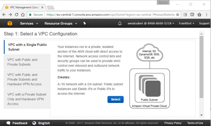 Einstieg in die AWS-Cloud - Teil 2