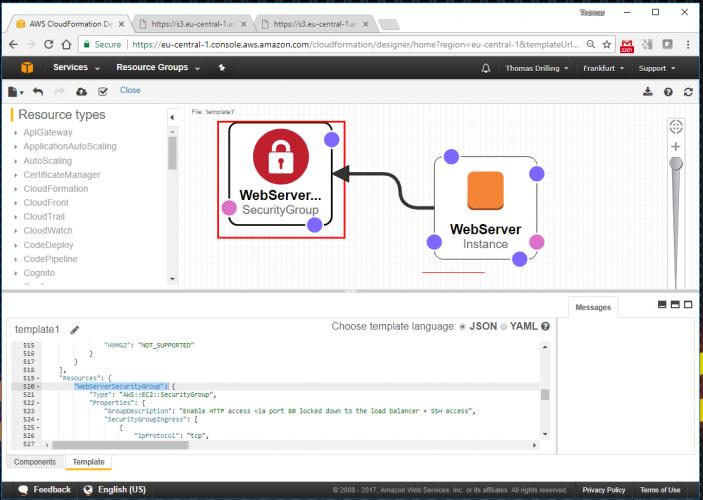 Infrastruktur via AWS CloudFormation definieren