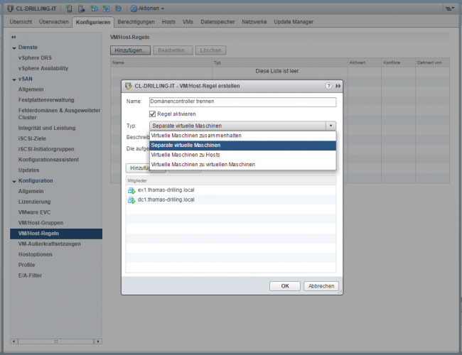 Serie VMware vSphere DRS