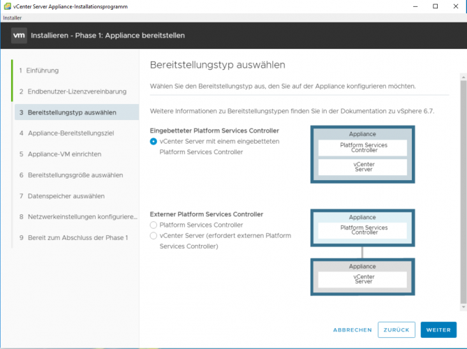 VMware vCenter Server Appliance (vCSA) 6.7