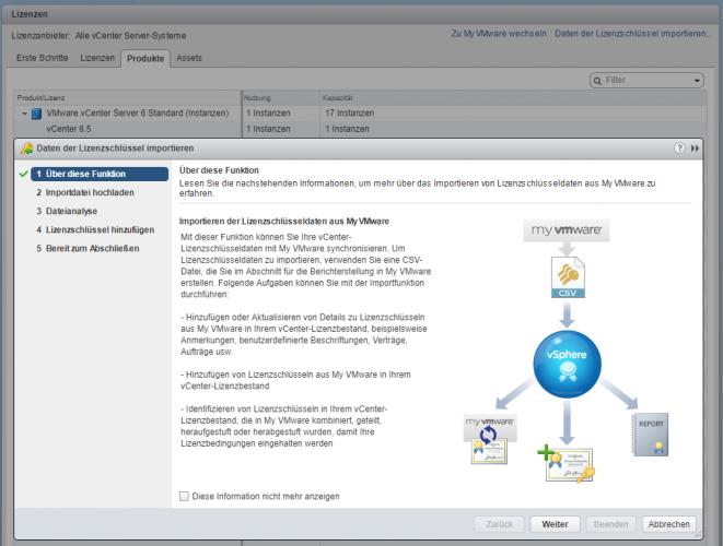 Lizenzenverwaltung VMware vSphere