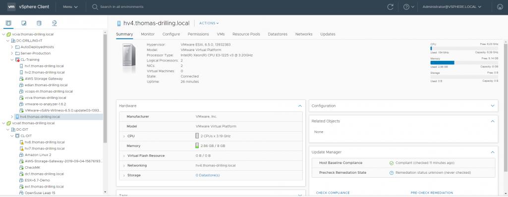 VMware vSAN Witness-Appliance: Cluster-Mitgliedschaft, Versionen und Hosting