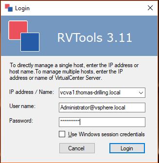VMware vSphere mit den kostenlosen RVTools verwalten