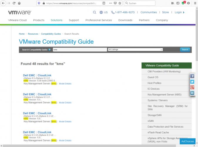 Key Management Server (KMS) für vSphere kostenlos evaluieren