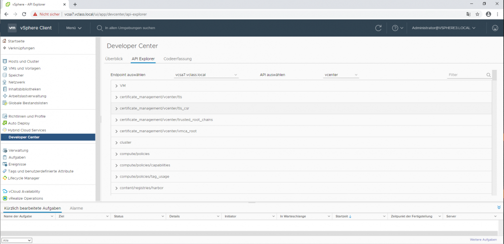 Profile in VMware vCenter 7.0